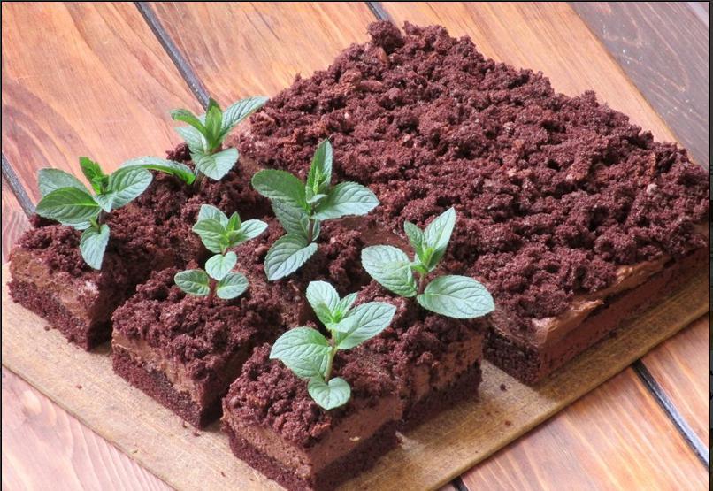 Когда хочу удивить гостей, готовлю свой фирменный десерт   торт  Цветочный горшок : рецепт