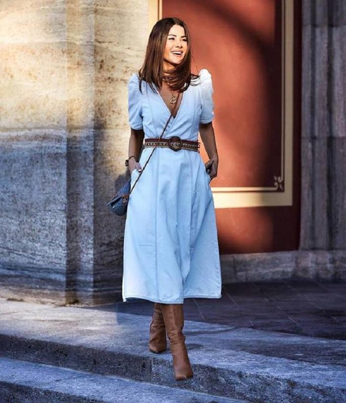 Привет из 2010-го. Джинсовые платья опять будут в тренде в 2021 году: фотоподборка актуальных фасонов