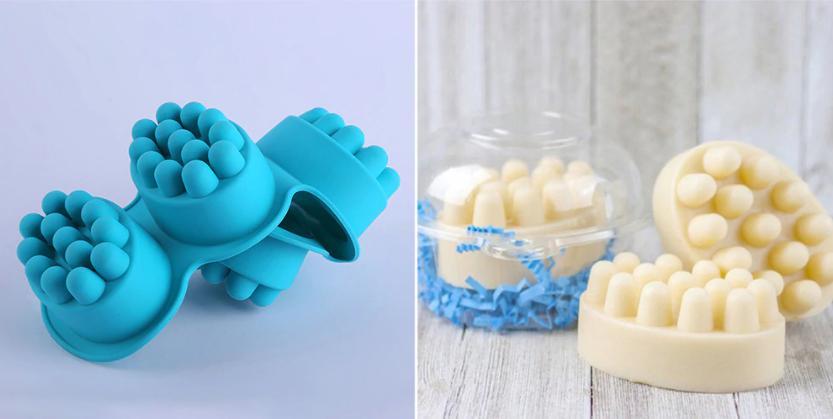 Решить проблемы сухой кожи поможет мыльный брусок-скраб с отрубями и маслом: его легко сделать своими руками