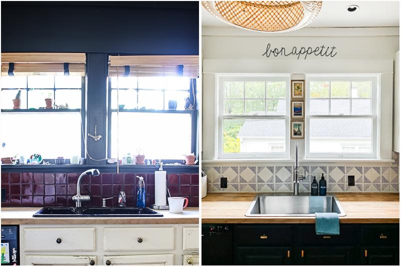 Для обновления не обязательно менять плитку на кухонном фартуке. Ее можно перекрасить   выглядит как новая