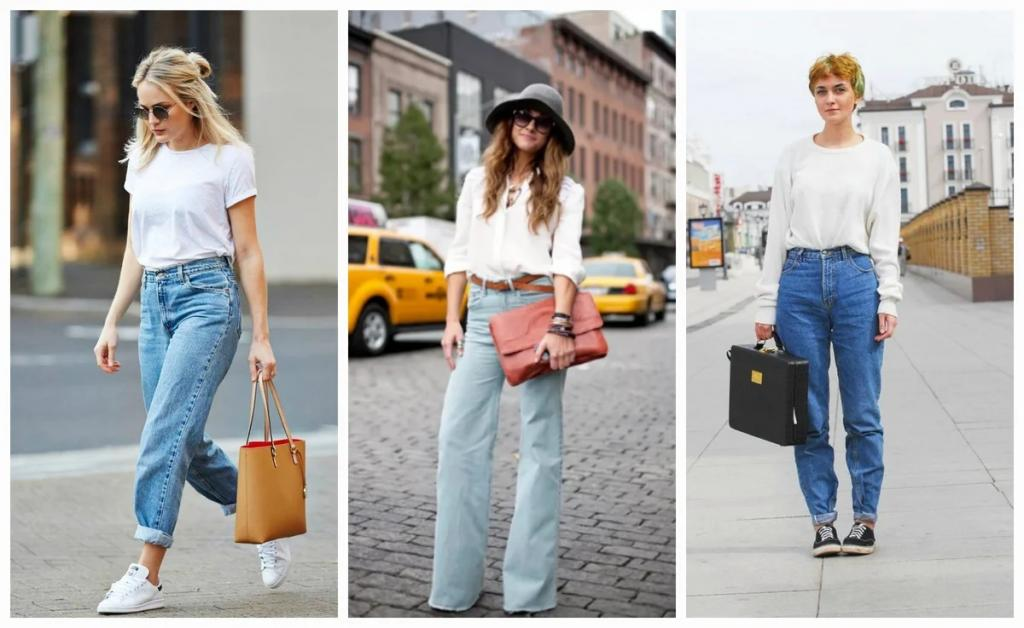 Объемный трикотаж, туфли на каблуке: с чем носить лестные для любой фигуры широкие джинсы весной 2021 года