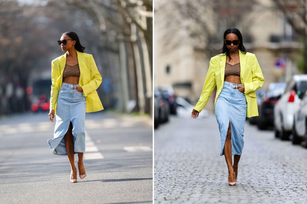 Монохромность, шарф на поясе и другие практические приемы, позволяющие избежать ошибок при ношении миди юбки