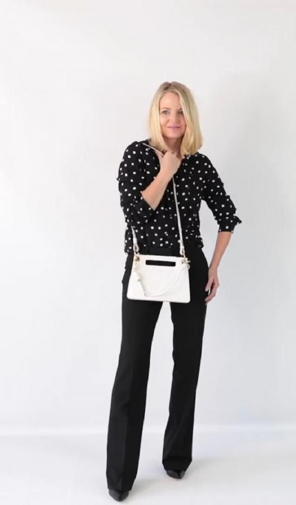 Подборка модных образов с черными брюками, которые не смотрятся скучно (идеально подходят для офиса)