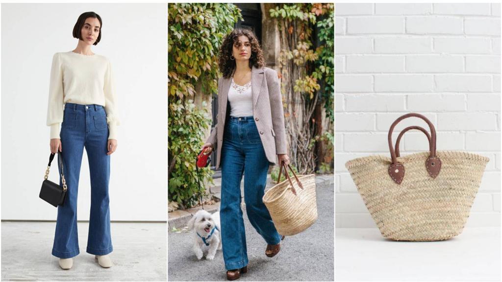Француженкам нравятся расклешенные: как носят джинсы модницы Парижа