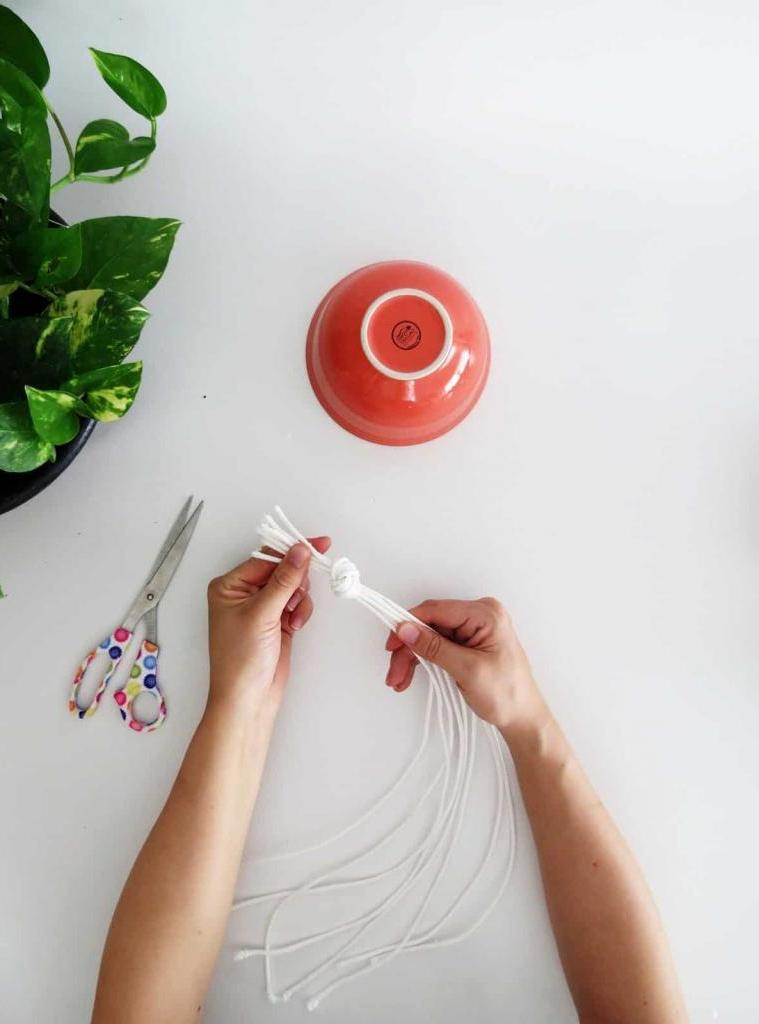 Как сделать красивое многоярусное кашпо для цветов. Нужны керамические чаши и веревка
