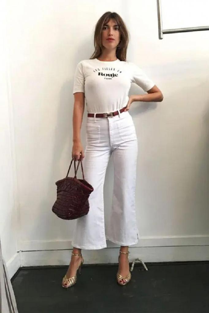 Как стилизовать простые белые джинсы: несколько примеров стильных образов