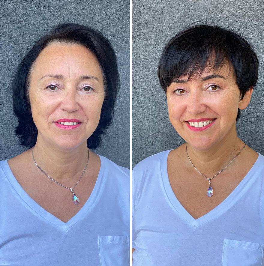Литовский парикмахер Юргита Малакаускайте показывает, как стрижка способна изменить образ женщины, на примере своих клиенток