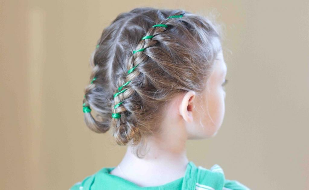 Вплетенная ленточка и не только: идеи причесок для маленьких девочек с короткими волосами