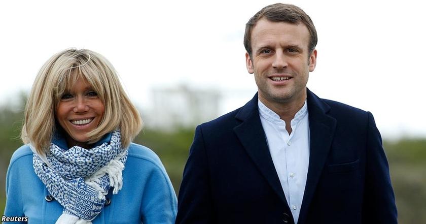 Если президентом Франции станет Макрон, то первой леди будет его училка со школы!