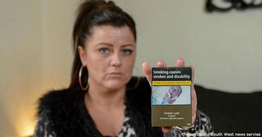 ШОК: мать двух детей нашла фото умершего отца на пачке сигарет!