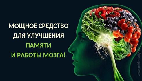 Самое мощное средство для улучшения памяти и работы мозга!