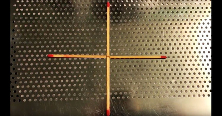 А вы можете передвинуть всего 1 спичку, чтобы получился квадрат?