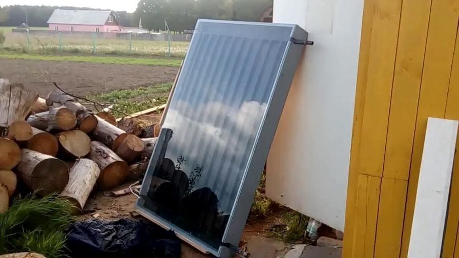 Отопление воздушным солнечным коллектором и тепловым насосом