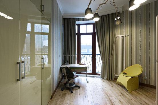 Классический интерьер квартиры сморскими мотивами