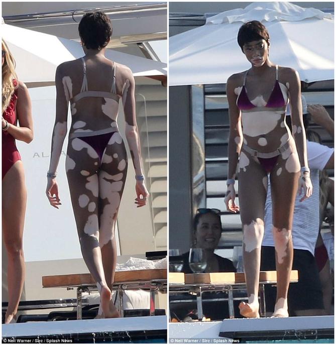 Фигуре этой модели можно только позавидовать. Она умница, что не побоялась выйти в купальнике!